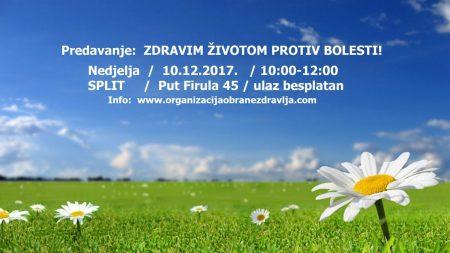 Poziv na predavanje u Splitu 10.12.2017. u 10:00.